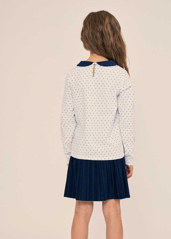 Блузка для девочек с отложным воротником - фото 3