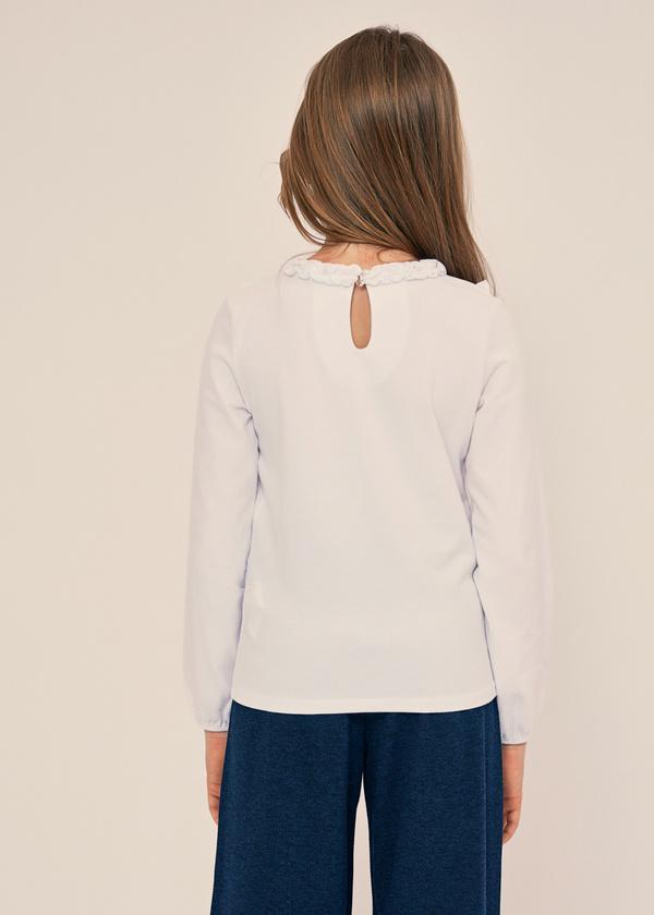 Блузка для девочек из хлопка с оборками - фото 2