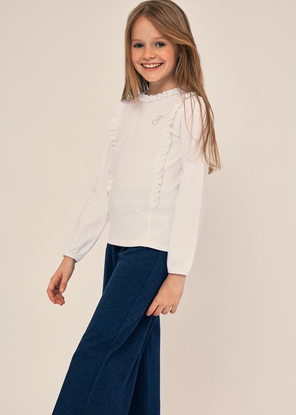 Блузка для девочек из хлопка с оборками - фото 4