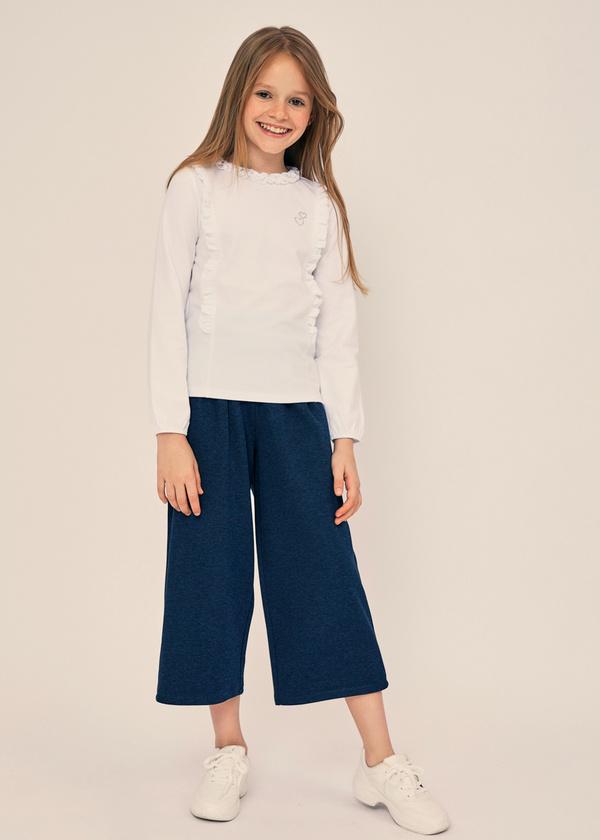 Блузка для девочек из хлопка с оборками - фото 5