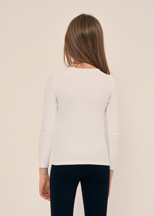 Блузка для девочек с ажурной вставкой - фото 2