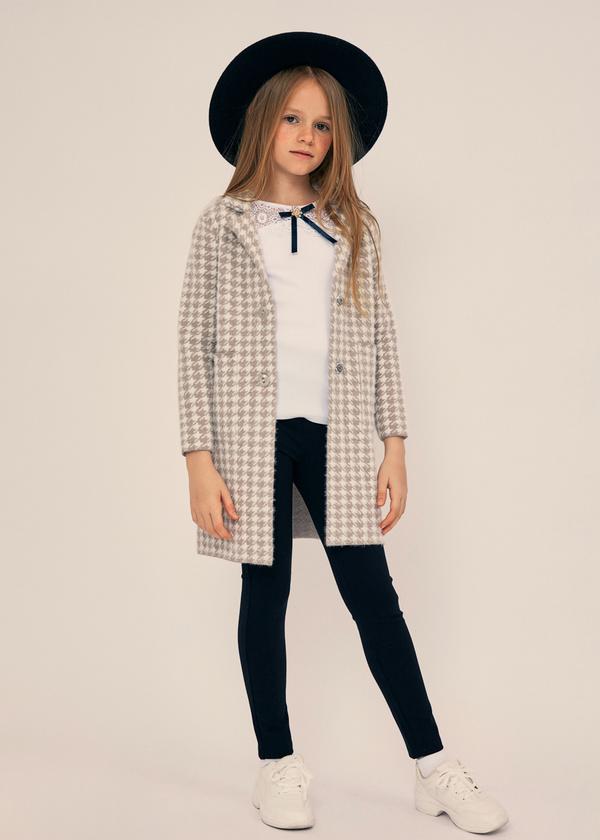 Блузка для девочек с ажурной вставкой - фото 3