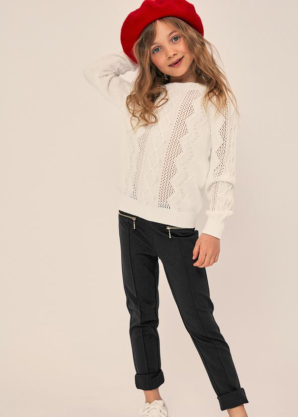 Зауженные брюки с молниями и эластичным поясом - фото 1