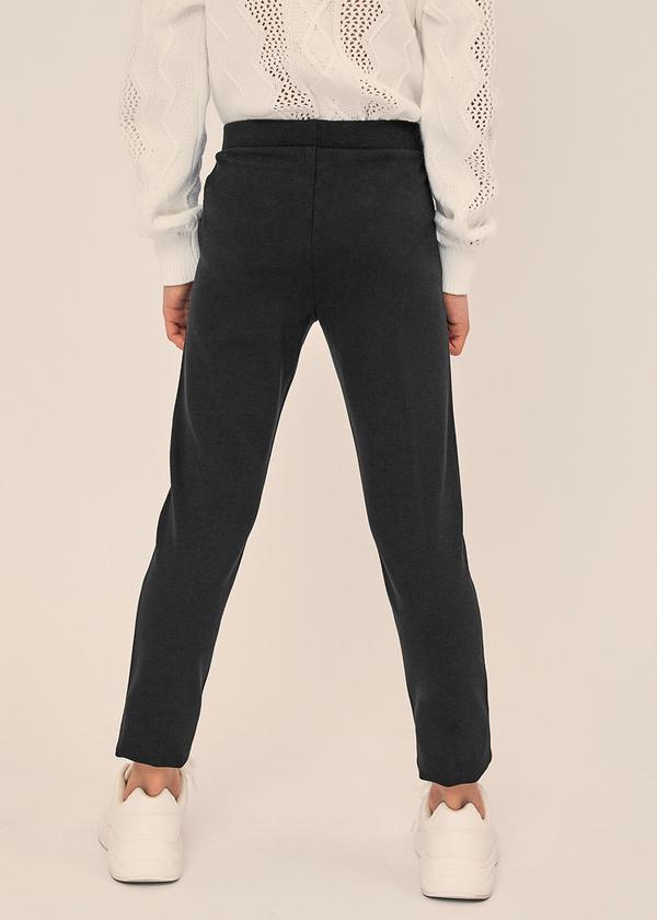 Зауженные брюки с молниями и эластичным поясом - фото 3