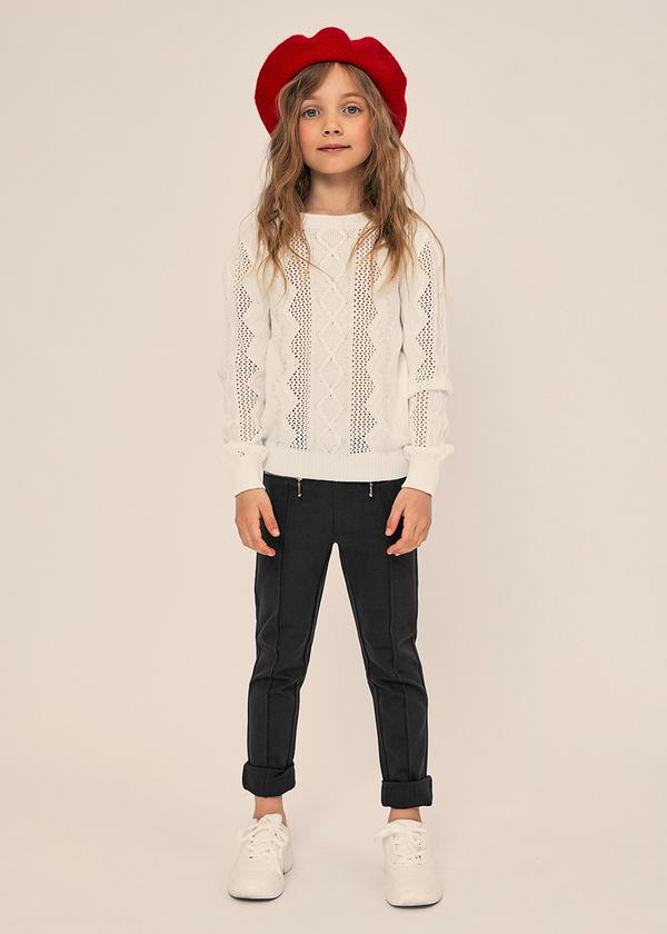 Зауженные брюки с молниями и эластичным поясом - фото 4