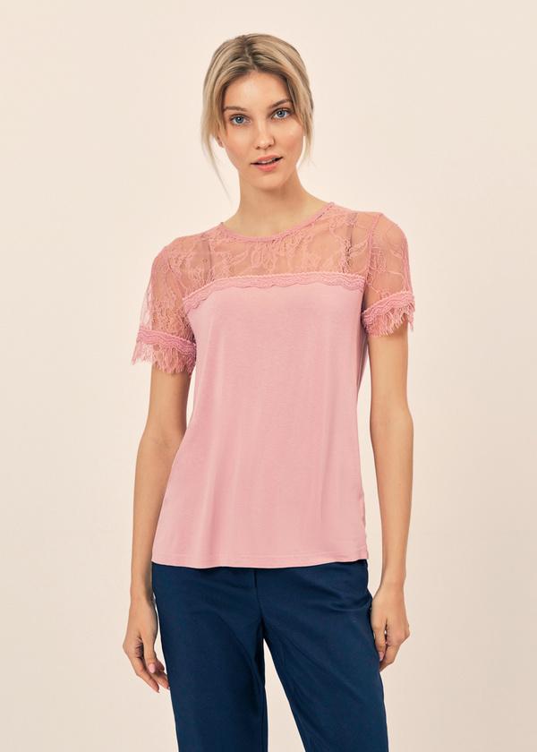 Блузка с кружевом и завязками на спине - фото 1