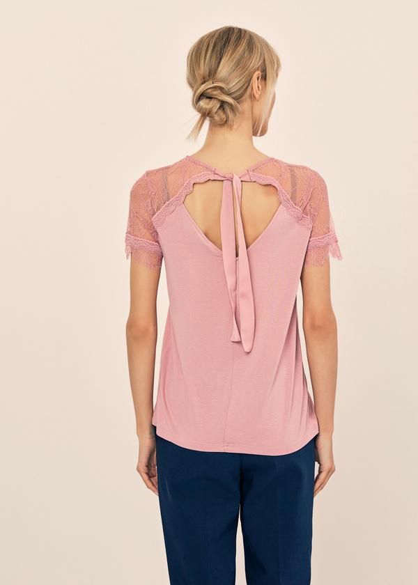 Блузка с кружевом и завязками на спине - фото 2