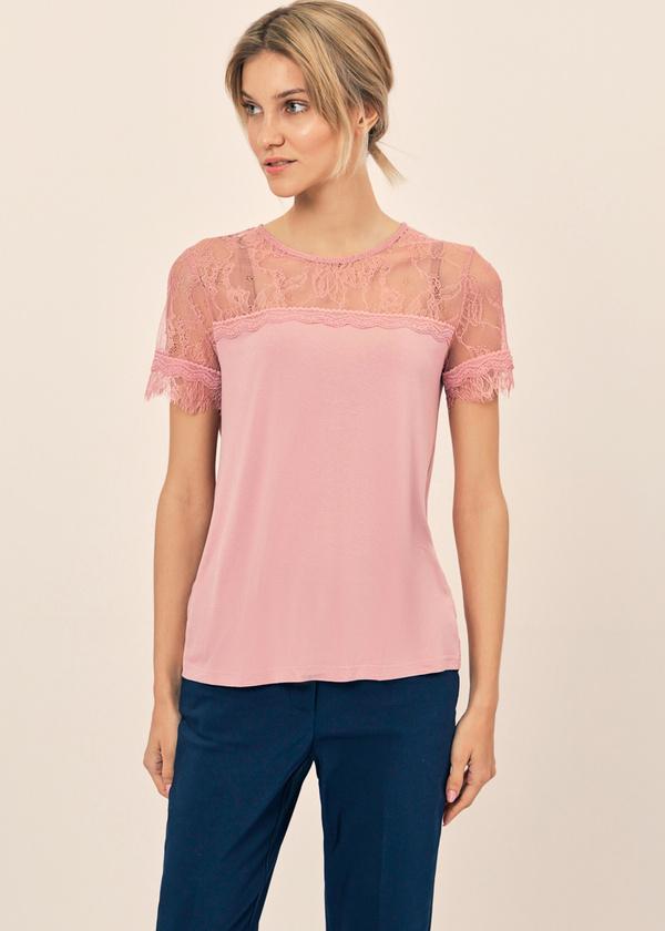 Блузка с кружевом и завязками на спине - фото 3