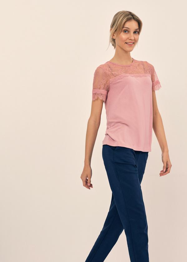Блузка с кружевом и завязками на спине - фото 4