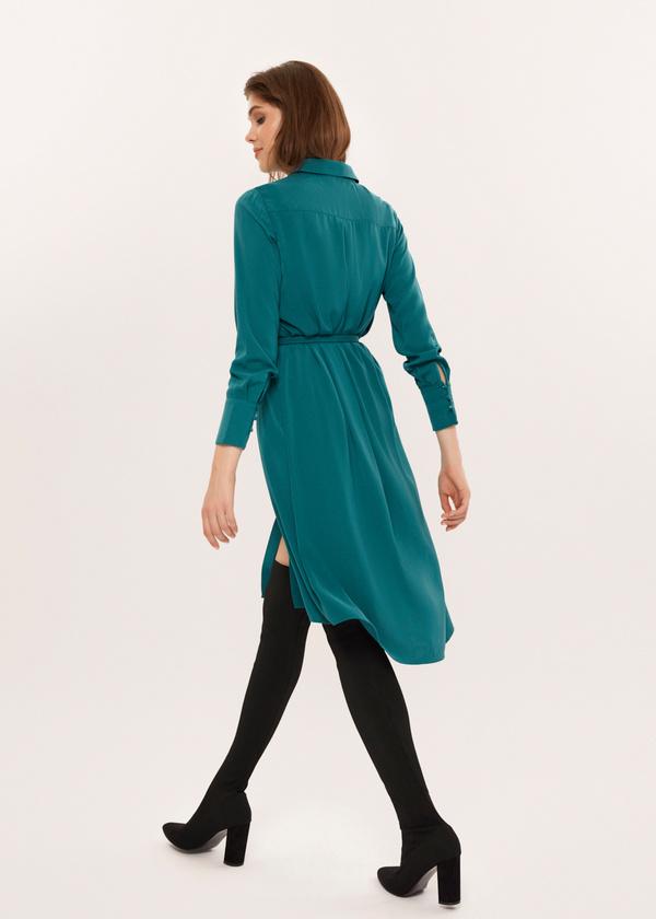 Платье-рубашка с ремешком - фото 4