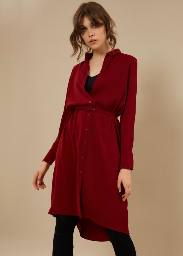 Платье-рубашка с ремешком - фото 1