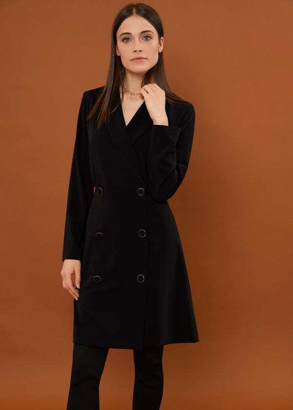 Платье-пиджак на пуговицах - фото 1