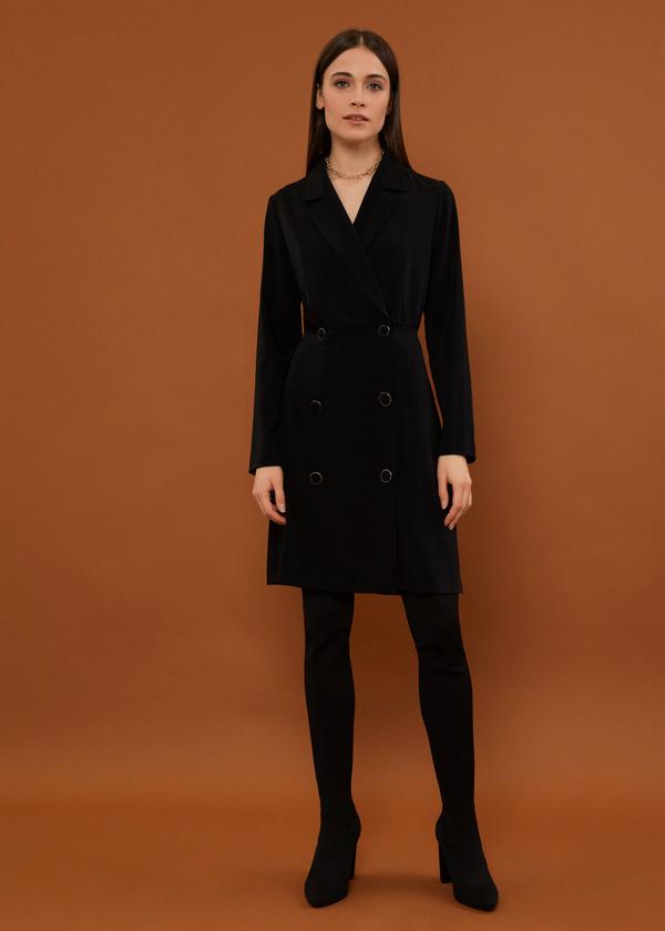 Платье-пиджак на пуговицах - фото 5