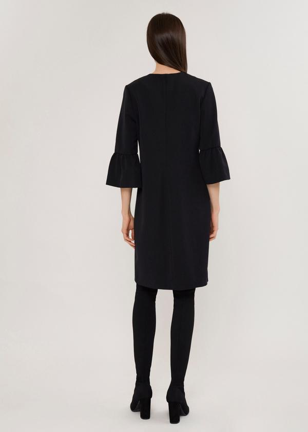 Платье с нашивкой и рукавами-фонариками  - фото 4