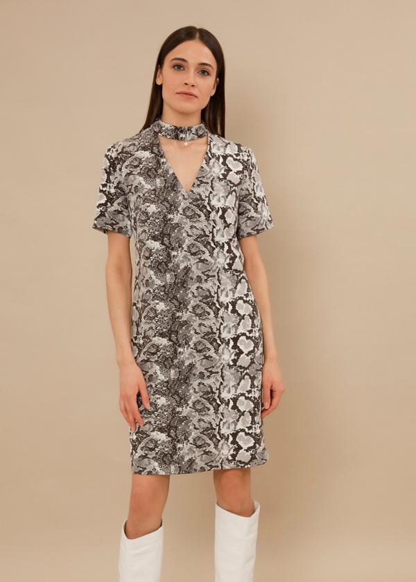 Платье-мини с чокером - фото 1