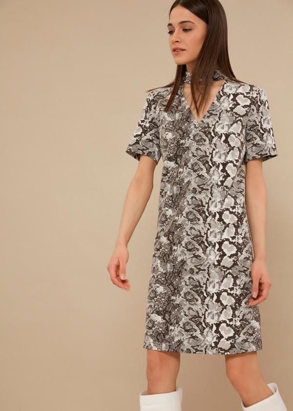 Платье-мини с чокером - фото 4