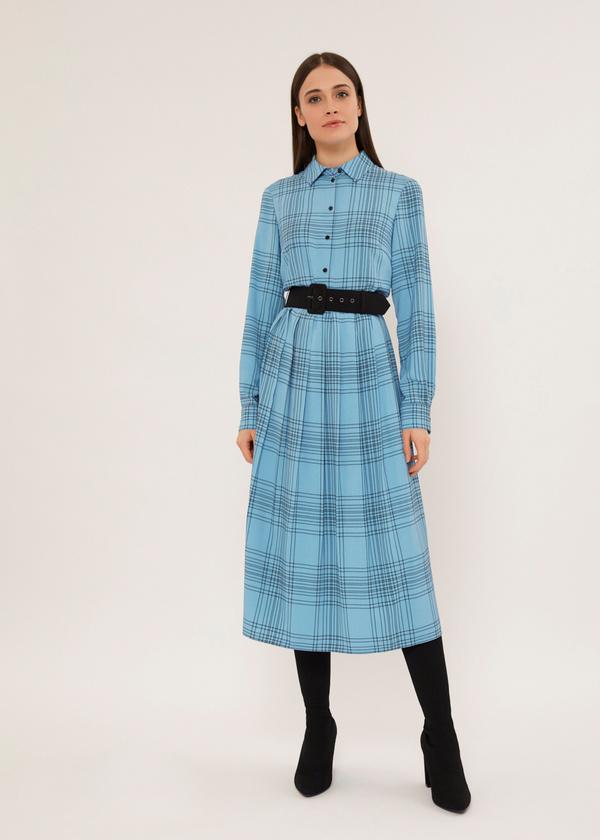 Платье-миди на подкладе - фото 1