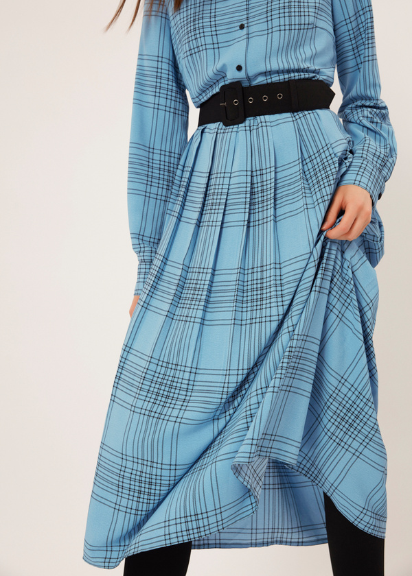 Платье-миди на подкладе - фото 2