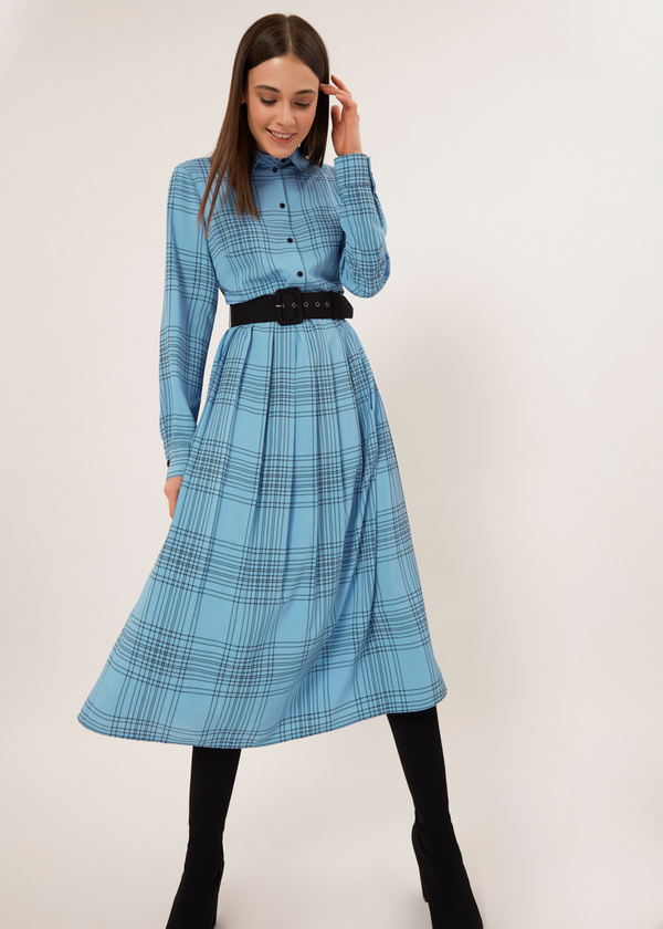 Платье-миди на подкладе - фото 3
