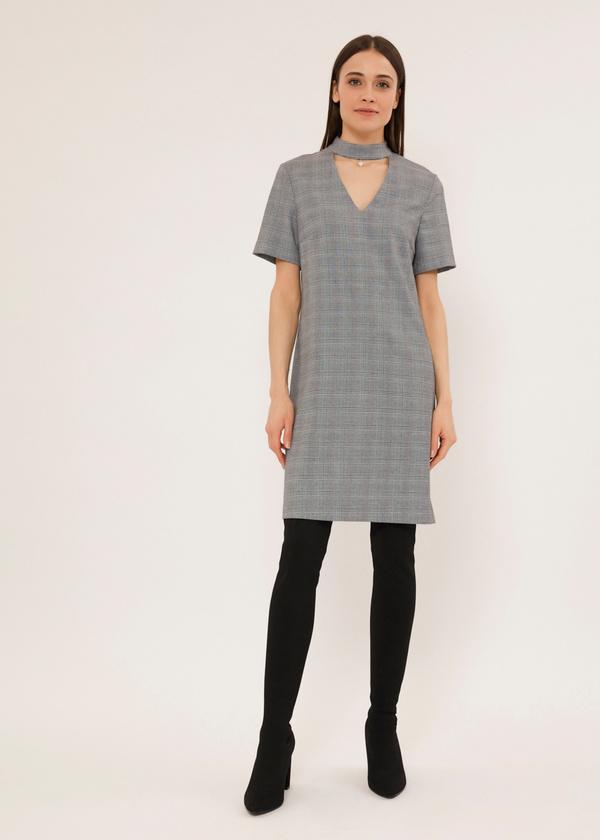 Платье-мини с чокером - фото 2