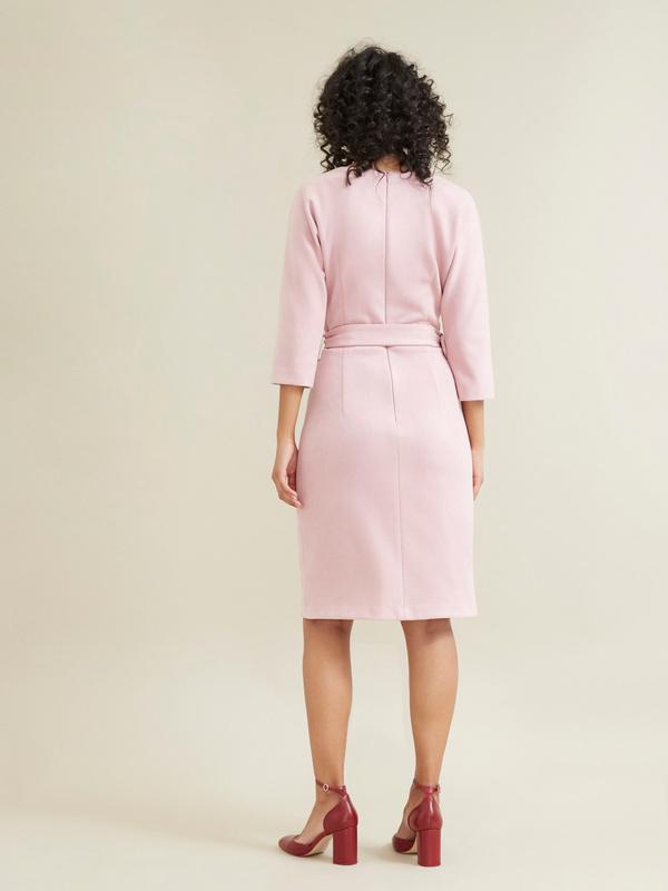 Замшевое платье с поясом - фото 5