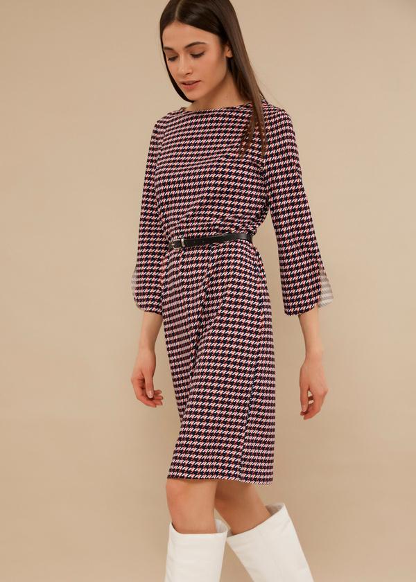 Приталенное платье с ремешком - фото 1