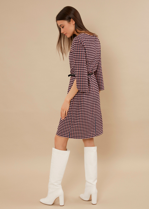Приталенное платье с ремешком - фото 3