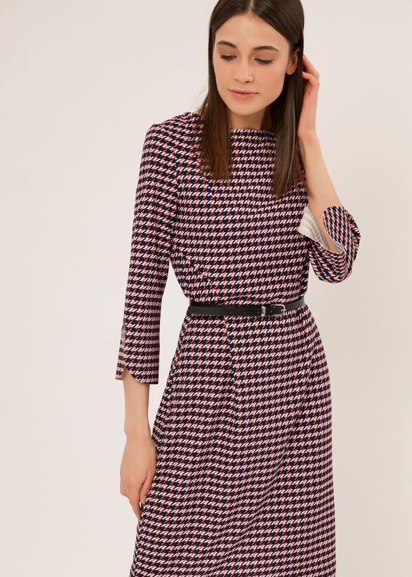 Приталенное платье с ремешком - фото 5
