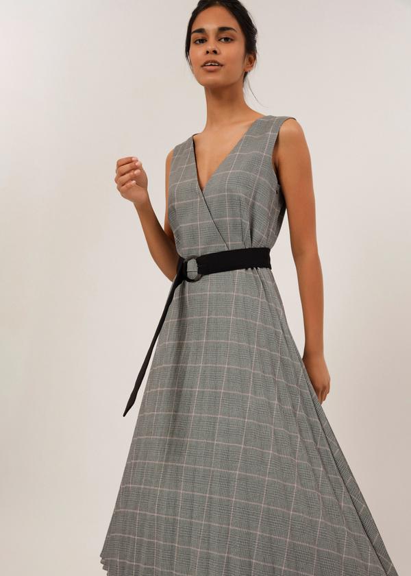 Платье-миди с плиссированной юбкой - фото 2