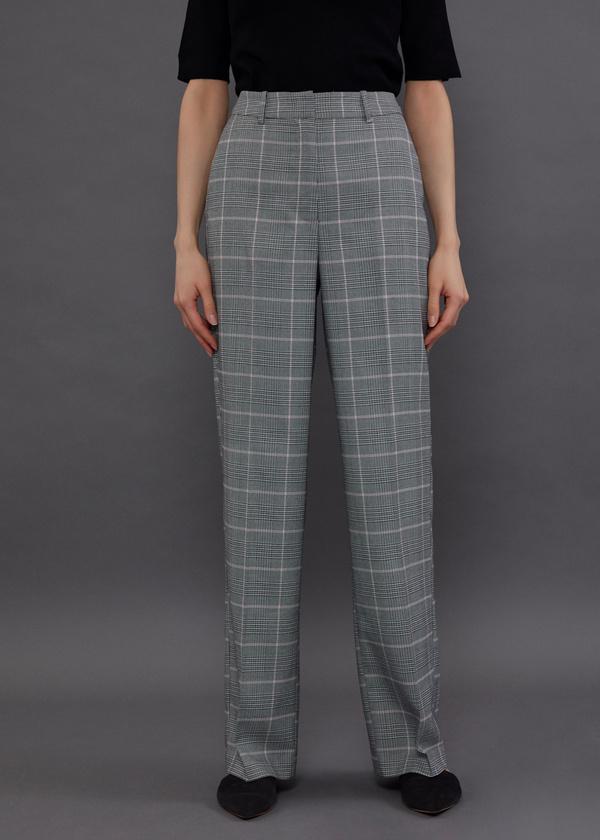Широкие брюки принт клетка - фото 3