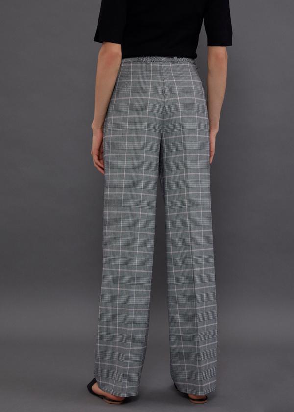 Широкие брюки принт клетка - фото 4