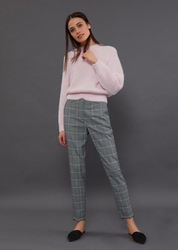 Зауженные брюки с асимметричным низом - фото 1