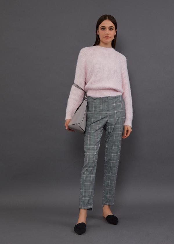 Зауженные брюки с асимметричным низом - фото 5