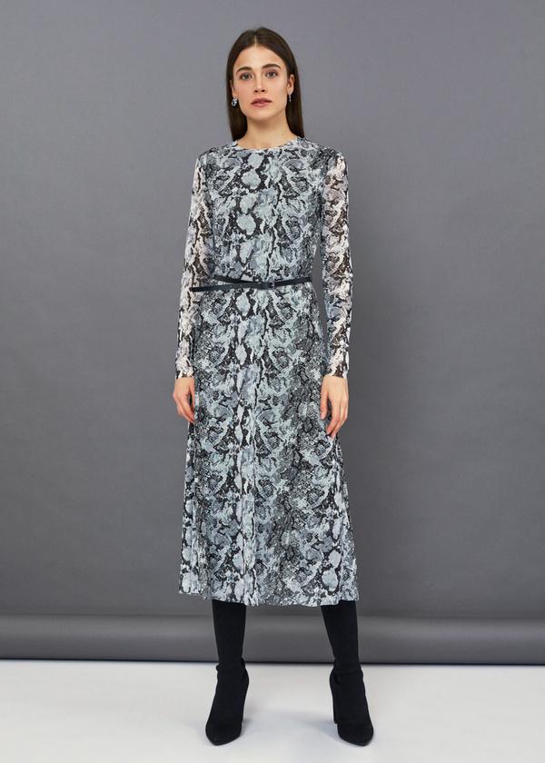 Платье-миди змеиный принт - фото 1