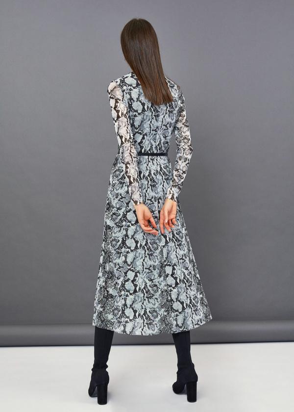 Платье-миди змеиный принт - фото 4