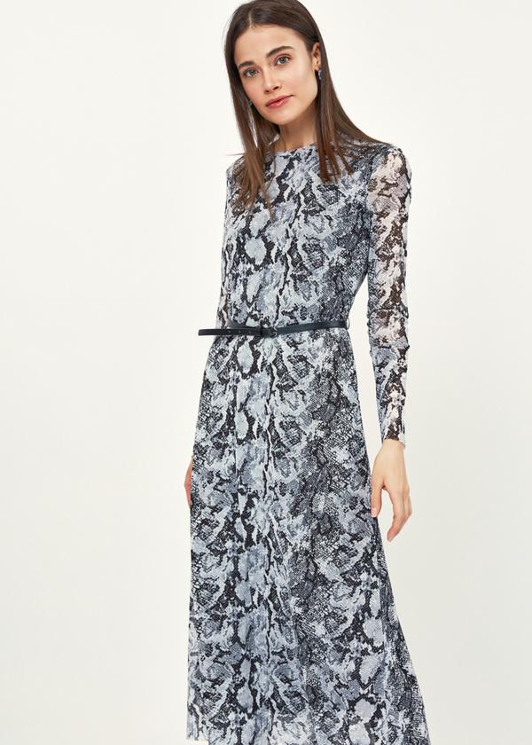 Платье-миди змеиный принт - фото 5