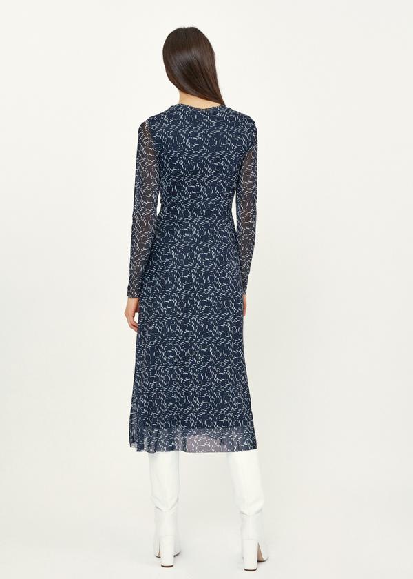 Платье-миди сетчатое на подкладе - фото 3