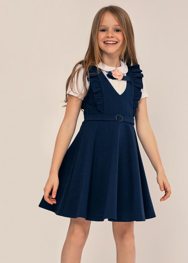 Сарафан для девочек с оборками - фото 6