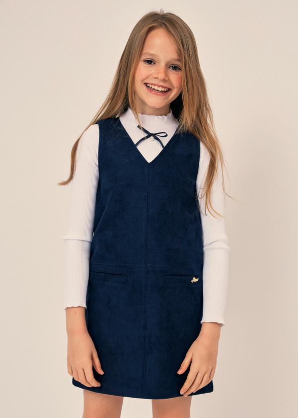 Платье для девочек с накладными карманами - фото 1