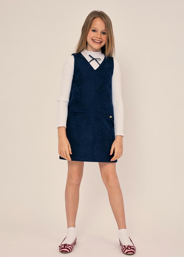 Платье для девочек с накладными карманами - фото 2