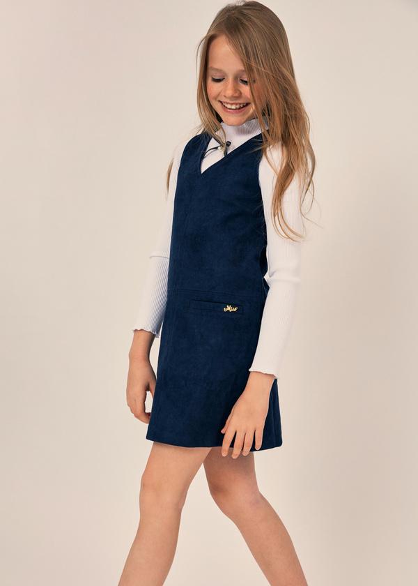 Платье для девочек с накладными карманами - фото 3