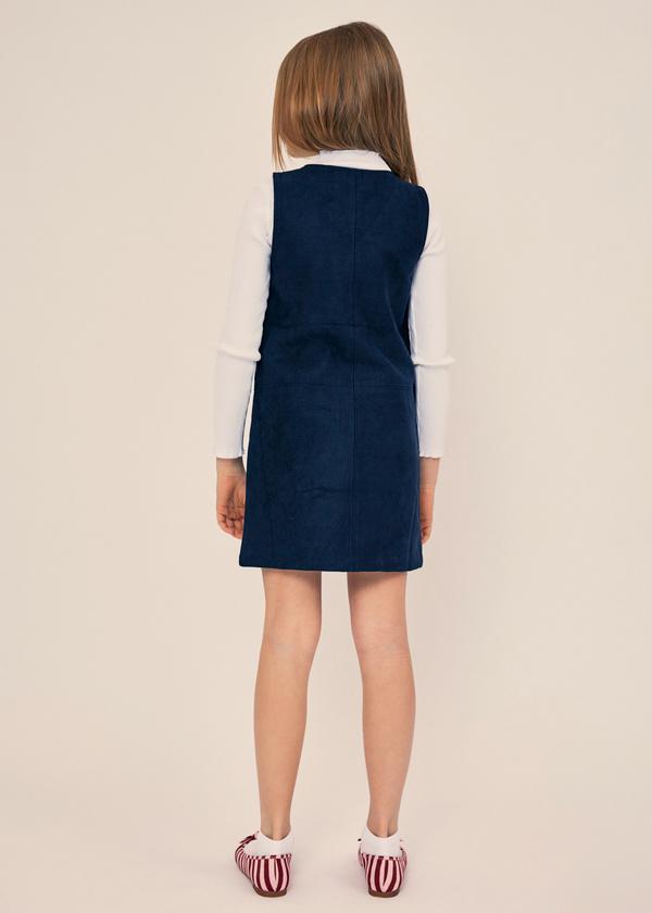 Платье для девочек с накладными карманами - фото 4