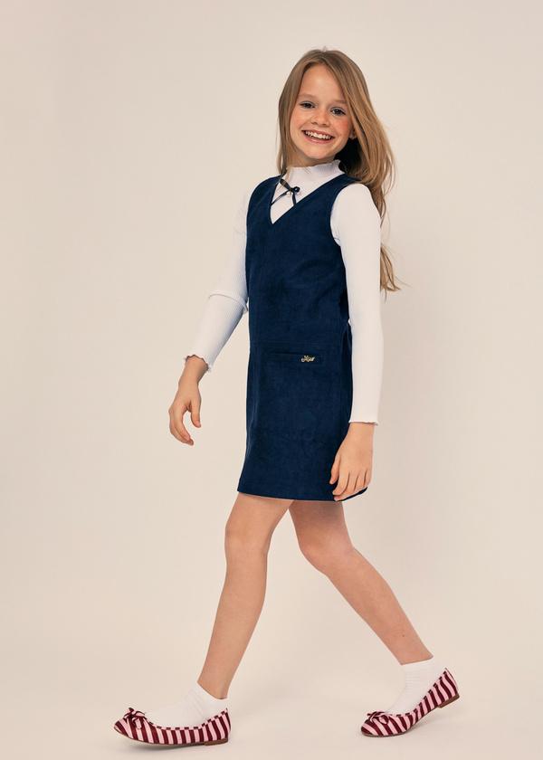 Платье для девочек с накладными карманами - фото 5