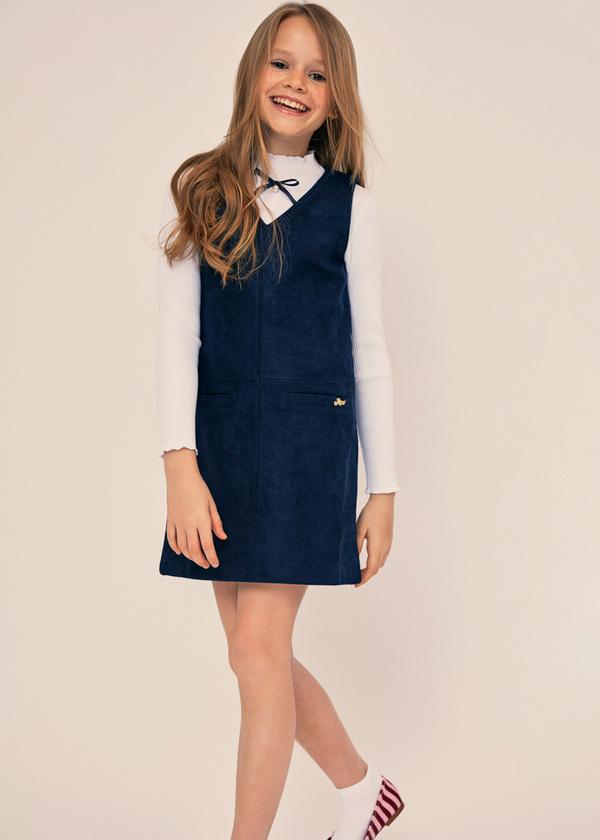 Платье для девочек с накладными карманами - фото 6