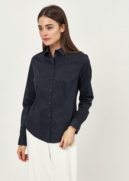 Приталенная блузка из хлопка - фото 2