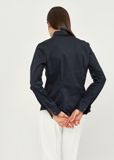 Приталенная блузка из хлопка - фото 3