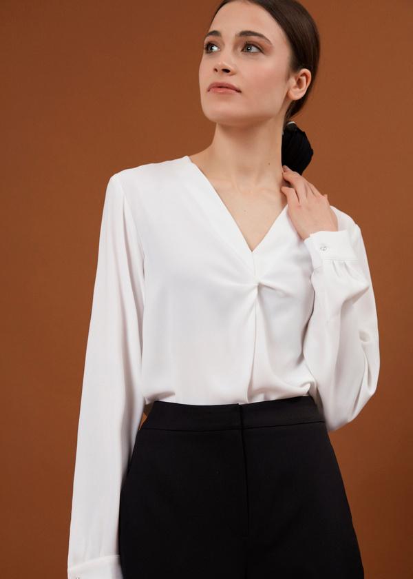 Блуза с декорированными пуговицами - фото 2