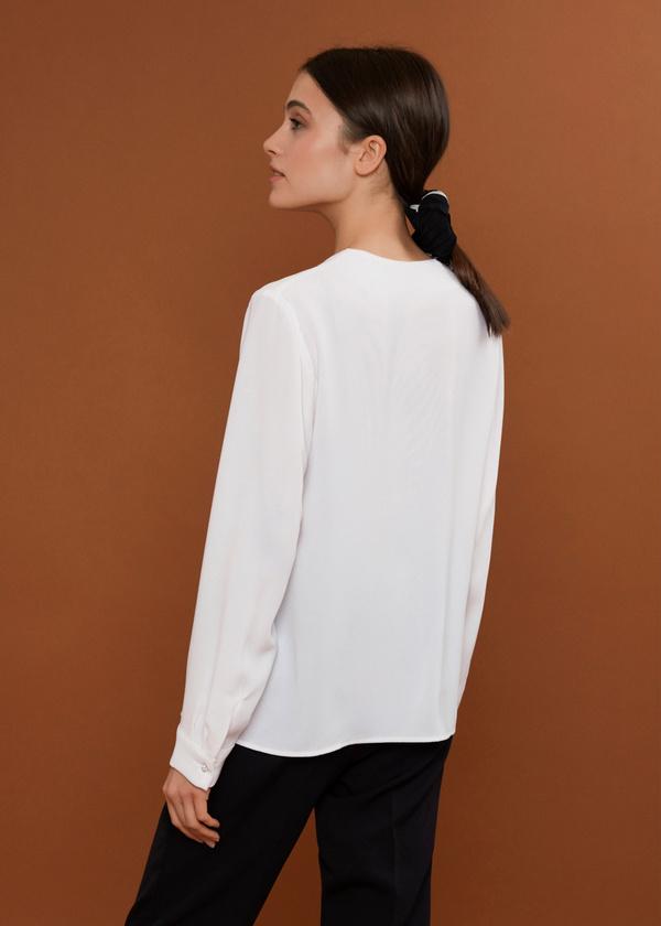 Блуза с декорированными пуговицами - фото 3