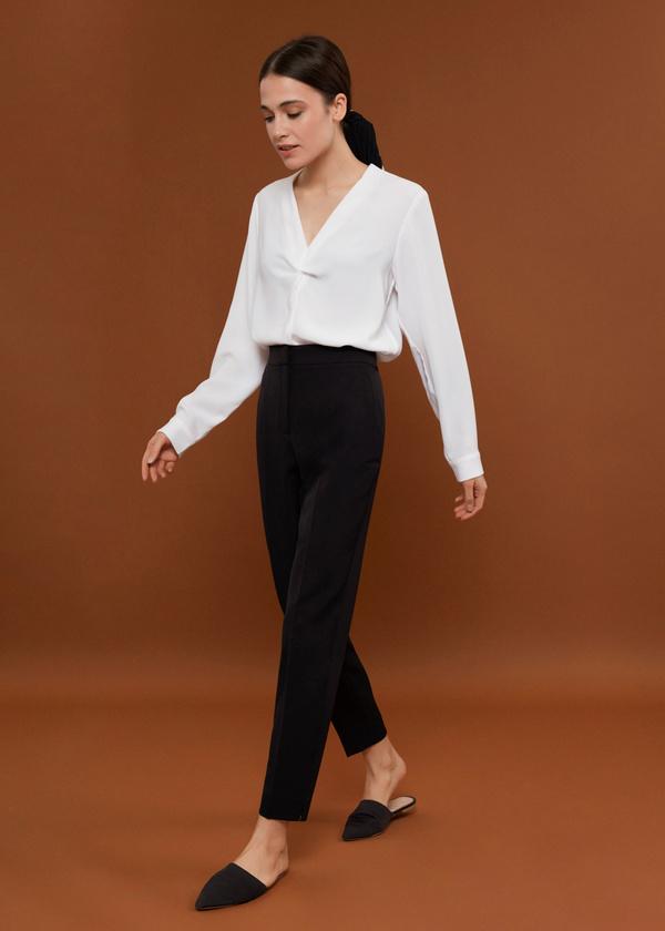 Блуза с декорированными пуговицами - фото 5