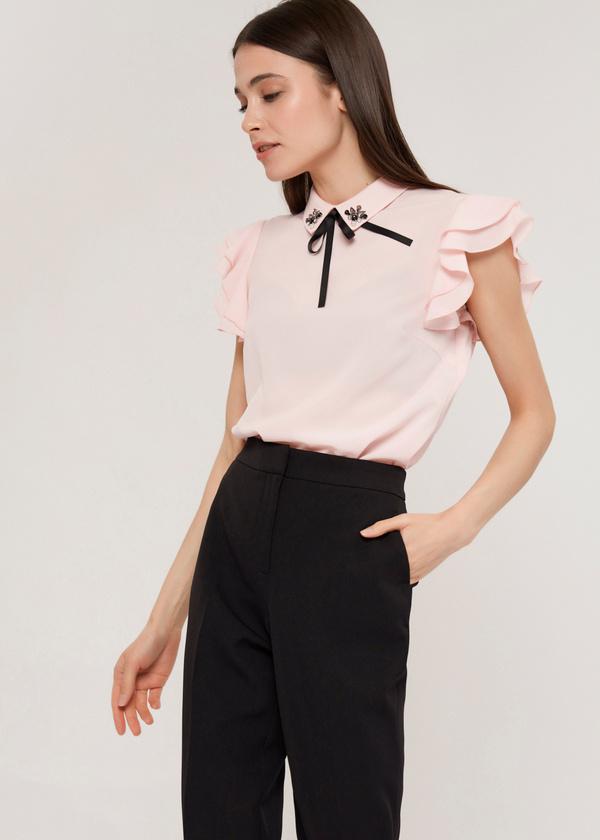 Блузка с рукавами-крылышками - фото 1